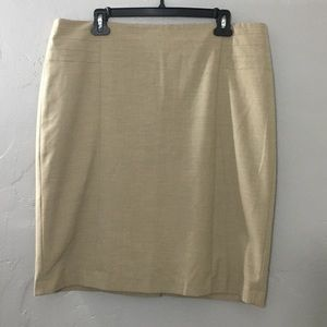 The Limited Tan Dress Skirt LNC